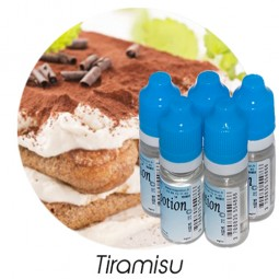 Lot de 5 E-Liquide Tiramisu, Eliquide Français Ma Potion, recharge liquide cigarette électronique. Sans nicotine ni tabac