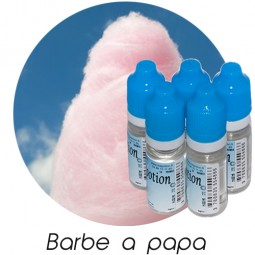 Lot de 5 E-Liquide Barbe a papa, Eliquide Français Ma Potion, recharge liquide cigarette électronique. Sans nicotine ni tabac