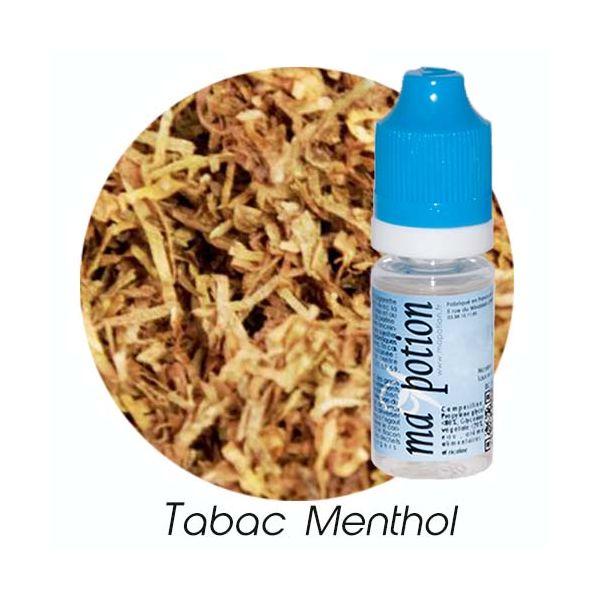 E-Liquide TABAC Menthol, Eliquide Français, recharge liquide pour cigarette électronique, Ecig