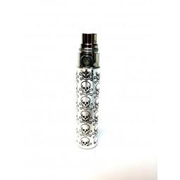 1 Batterie 650 mAh - Style Inox Skull- pour cigarette électronique