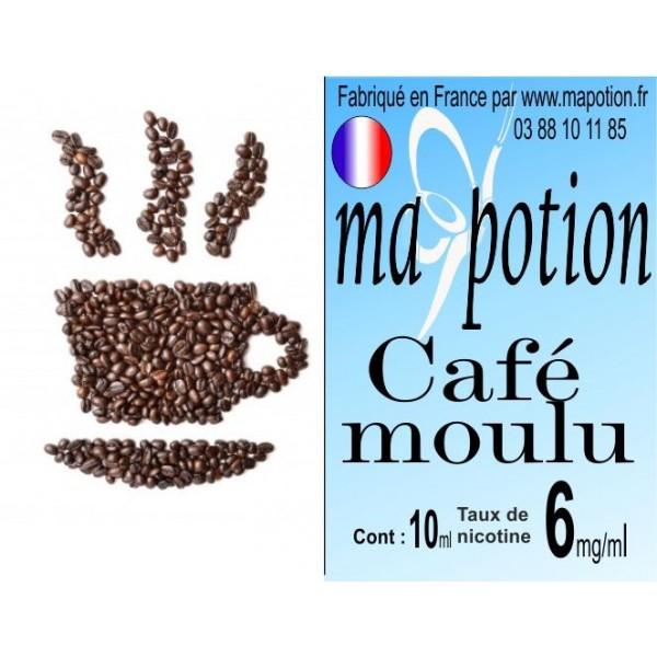E-Liquide Saveur Café moulu, Eliquide Français, recharge liquide pour cigarette électronique, Ecig