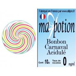 E-Liquide Saveur Bonbon Carnaval Acidulé, Eliquide Français, recharge liquide pour cigarette électronique, Ecig