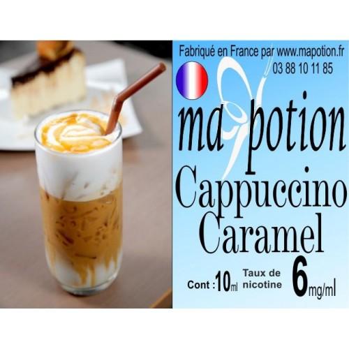 E-Liquide Saveur Cappuccino Caramel, Eliquide Français, recharge liquide pour cigarette électronique, Ecig