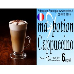 E-Liquide Saveur Cappuccino, Eliquide Français, recharge liquide pour cigarette électronique, Ecig
