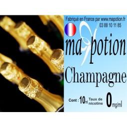 E-Liquide Saveur Champagne, Eliquide Français, recharge liquide pour cigarette électronique, Ecig