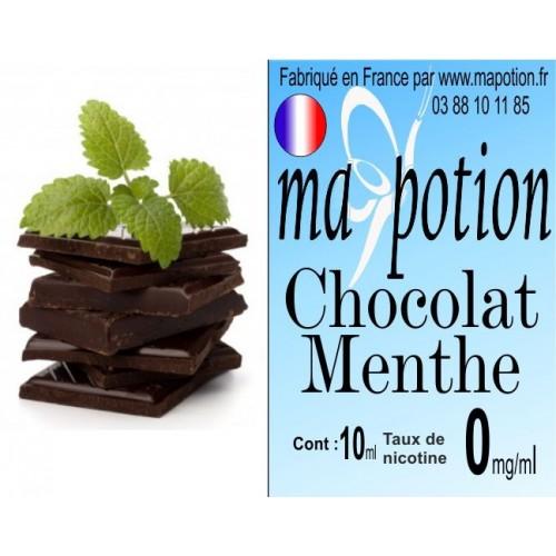 E-Liquide Saveur Chocolat Menthe, Eliquide Français, recharge liquide pour cigarette électronique, Ecig