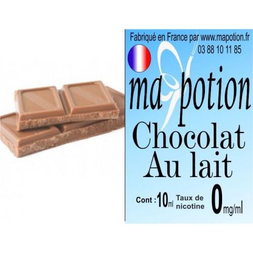 E-Liquide Saveur Chocolat au Lait, Eliquide Français, recharge liquide pour cigarette électronique, Ecig