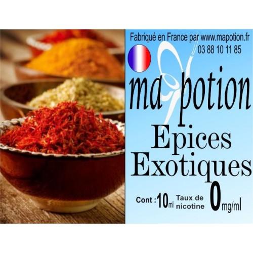 E-Liquide Saveur Epices exotiques, Eliquide Français, recharge liquide pour cigarette électronique, Ecig