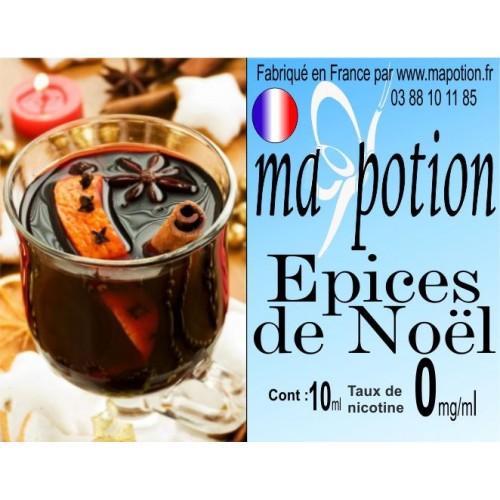 E-Liquide Saveur Epices de noel, Eliquide Français, recharge liquide pour cigarette électronique, Ecig
