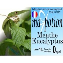 E-Liquide Saveur Menthe Eucalyptus, Eliquide Français, recharge liquide pour cigarette électronique, Ecig