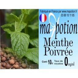 E-Liquide Saveur Menthe Poivrée, Eliquide Français, recharge liquide pour cigarette électronique, Ecig