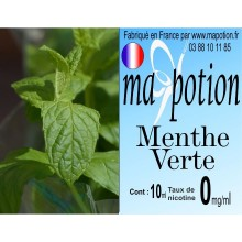 E-Liquide Saveur Menthe Verte, Eliquide Français, recharge liquide pour cigarette électronique, Ecig