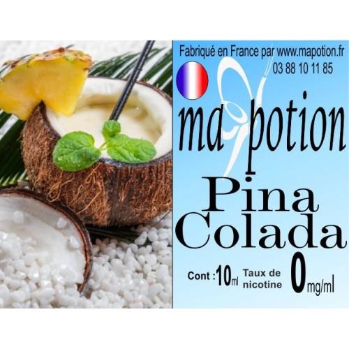 E-Liquide Saveur Pina colada, Eliquide Français, recharge liquide pour cigarette électronique, Ecig
