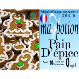 E-Liquide Saveur Pain d'épice, Eliquide Français, recharge liquide pour cigarette électronique, Ecig